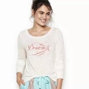 Victoria's Secret Bombshell graphic L/S tee top